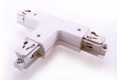 T-Verbinder Ivela für 3-Phasen Stromschiene Aufbau, rund, weiß