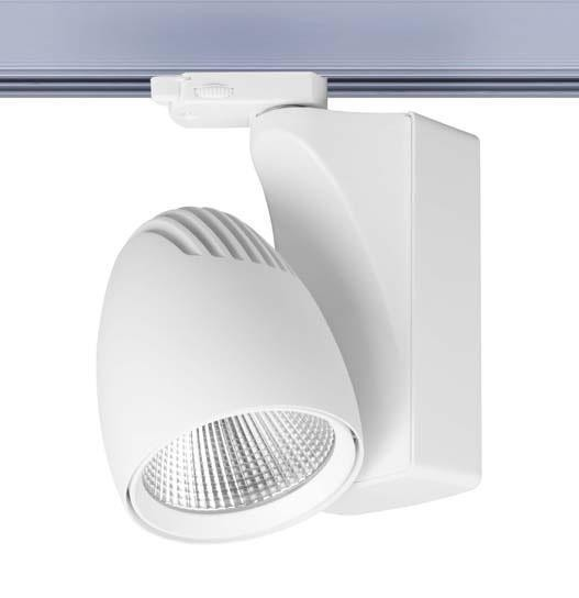 Ovalt LED maxi 3-Phasen, weiß