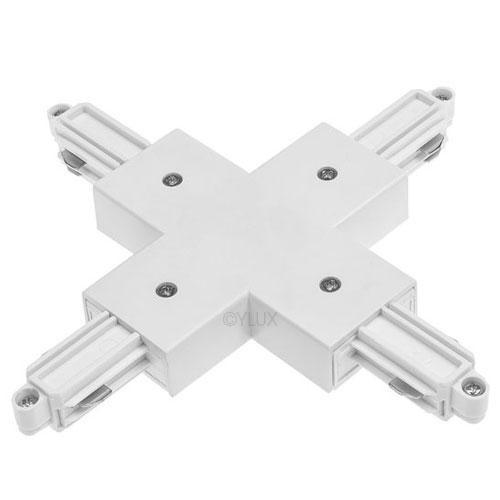 X-Verbinder silbergrau für 1-Phasen HV-Stromschiene, Aufbauversion