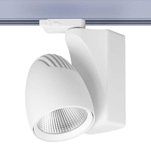 Ovalt LED medium 3-Phasen, weiß