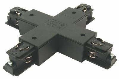 3-phasen X-Verbinder, quadratisch, silbergrau