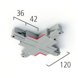 Eutrac X-Verbinder 3-Phasen Einbau